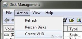 Crear VHD en Windows 7
