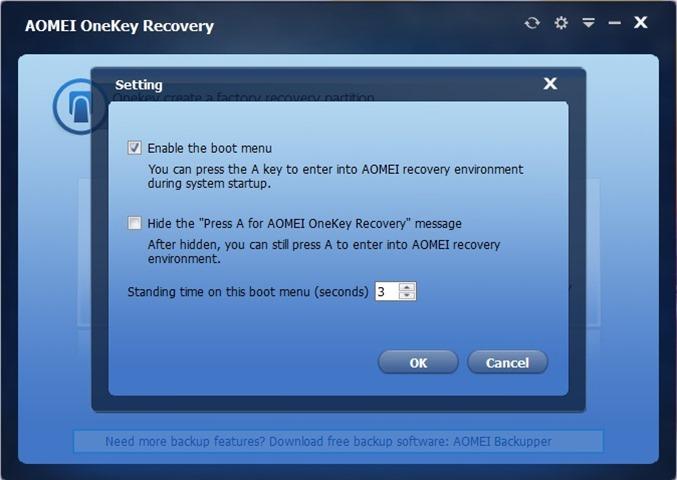 partición de recuperación dedicada Windows 10