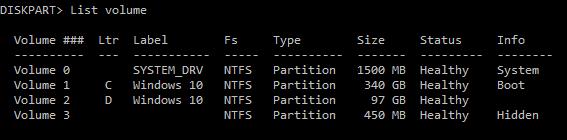 eliminar 450 MB de partición de recuperación en Windows 10 pic2.2