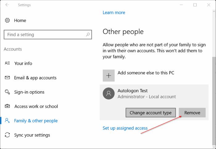 eliminar cuenta de administrador en Windows 10 pic1