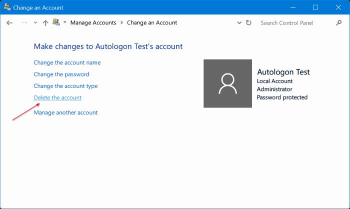 eliminar cuenta de administrador en Windows 10 pic8