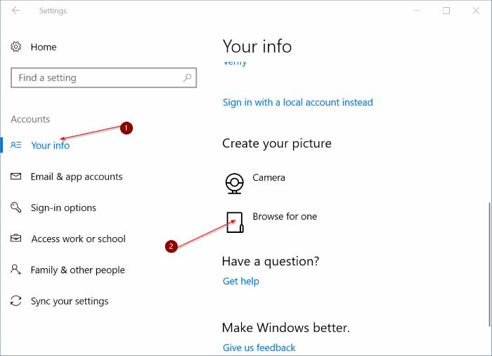 eliminar imágenes de cuentas de usuario antiguas en Windows 10 pic3