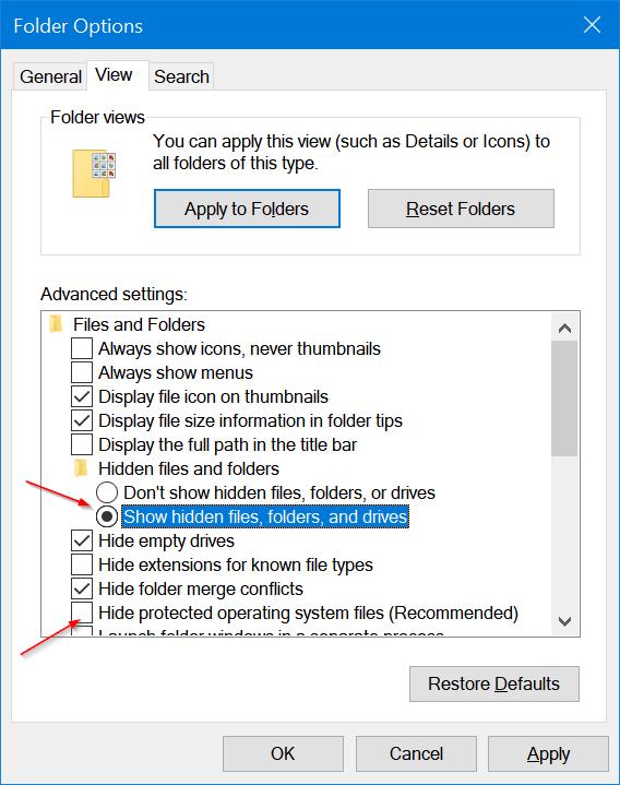 eliminar imágenes de cuentas de usuario antiguas en Windows 10 pic5