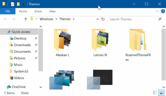 eliminar temas en Windows 10 pic5