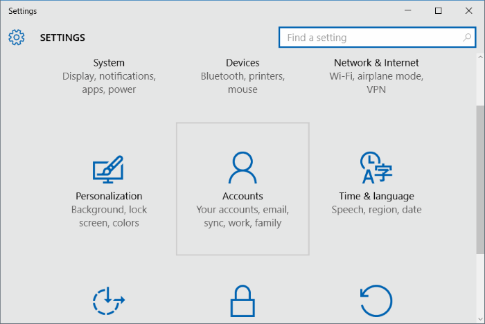 eliminar cuenta de usuario en Windows 10 step2