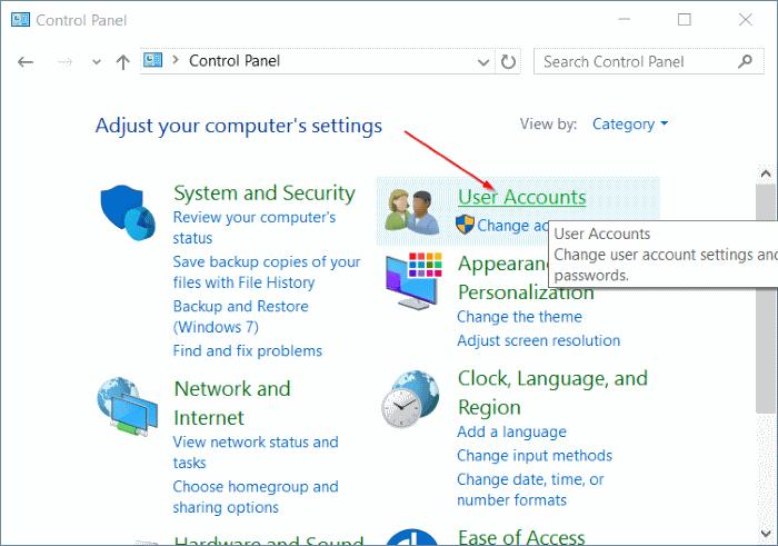eliminar cuenta de usuario en Windows 10 step5