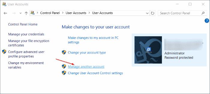 eliminar cuenta de usuario en Windows 10 step7