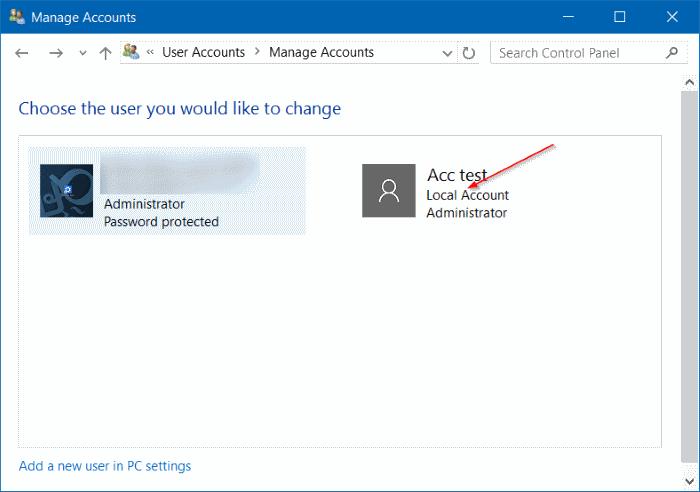 eliminar cuenta de usuario en Windows 10 step8
