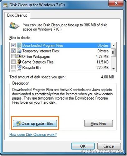 eliminar punto de restauración en Windows 7