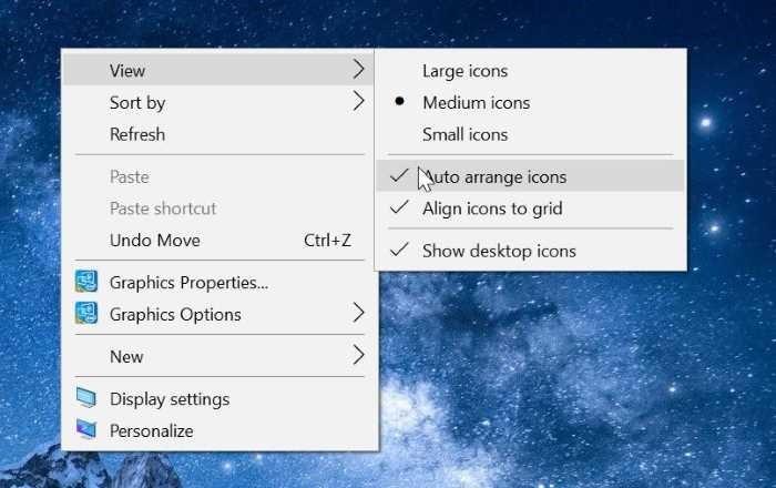 iconos de escritorio que faltan en Windows 10 pic2