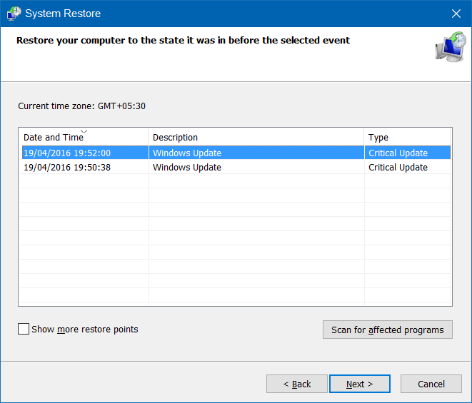 presentación de escritorio que no funciona Windows 10 step4