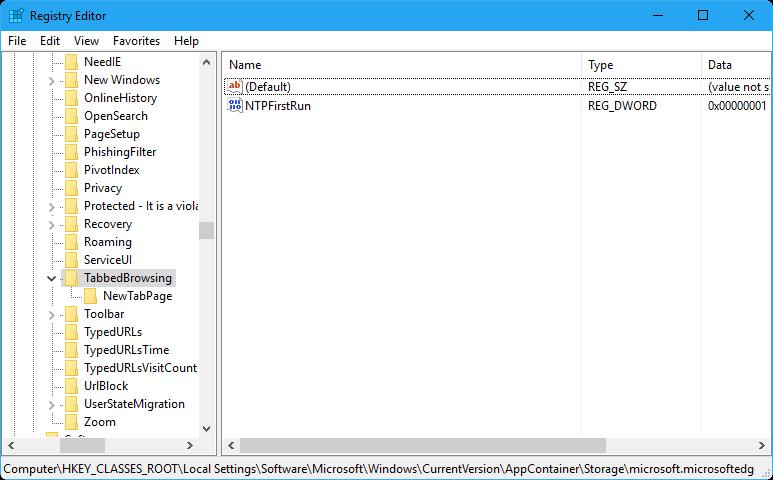 deshabilitar la vista previa de la pestaña Microsoft Edge en Windows 10 step2