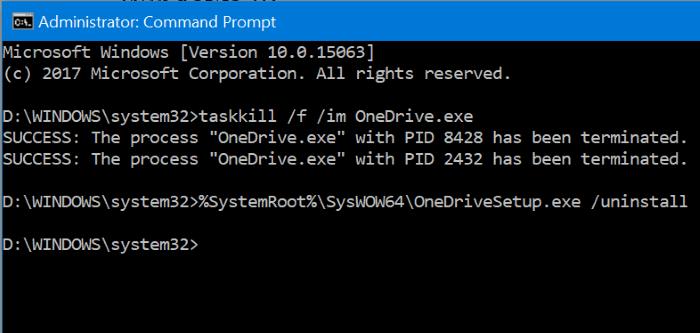 disable Configurar el diálogo emergente de onedrive en Windows 10 pic3