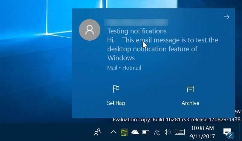 deshabilitar notificación de escritorio para aplicaciones específicas en Windows 10 pic1