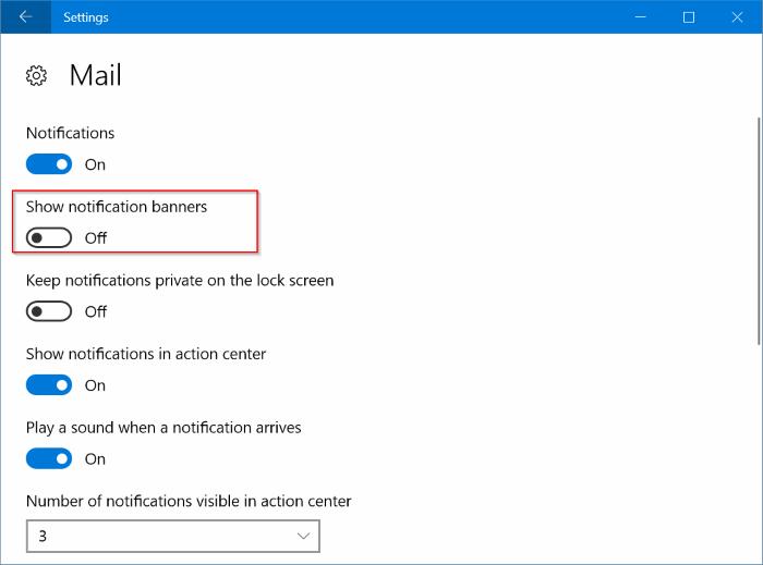 deshabilitar notificaciones para aplicaciones específicas en Windows 10 pic3