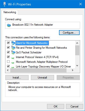 desactivar wifi cuando el cable Ethernet está conectado en Windows 10 pic5