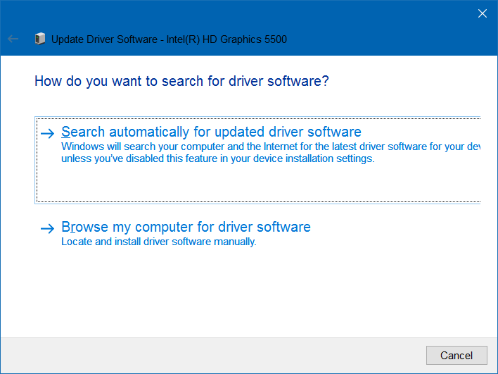 display driver failed to start error in Windows 10 pic2