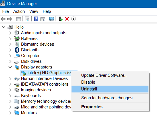 display driver failed to start error in Windows 10 pic5