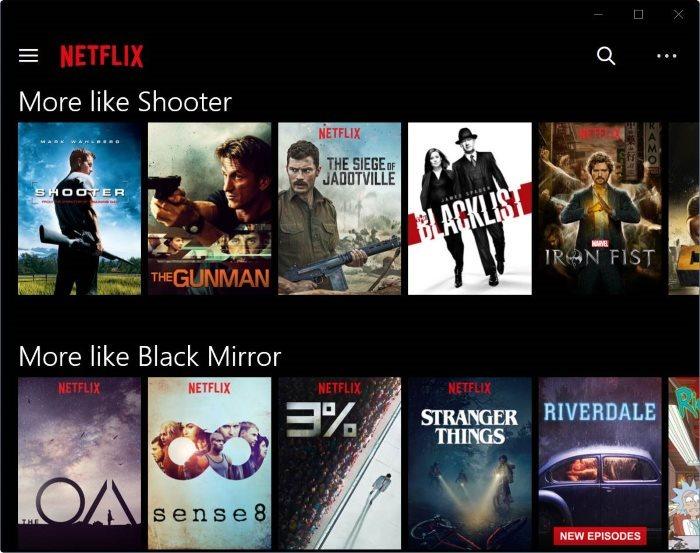 descargar películas y programas de TV de Netflix en Windows 10 pic2