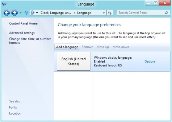 download and install windows 8 language packs step2