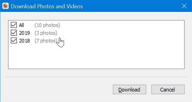descargar icloud photos to Windows 10 PC pic11