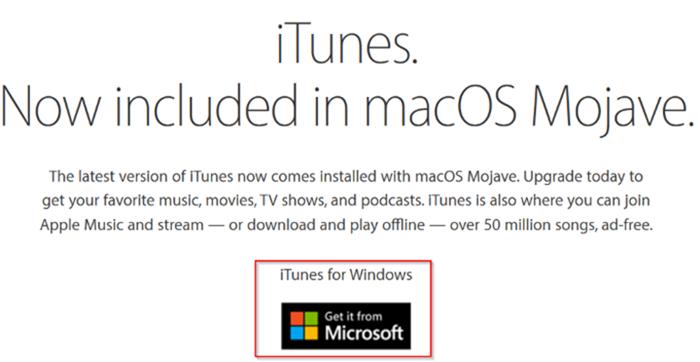 descargar itunes desde Apple sin usar Windows Store en Windows 10 pic01