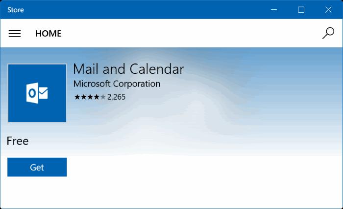 descargar aplicación de correo para Windows 10