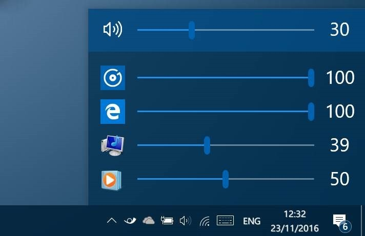 eartrumpet adjust volume levels for apps in Windows 10