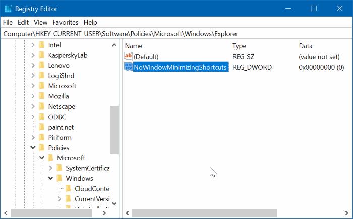 activar o desactivar Aero Shake en Windows 10 pic5