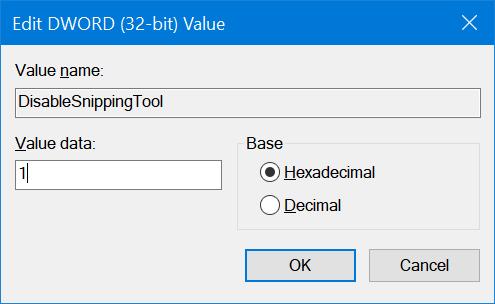 activar o desactivar la herramienta de recorte en Windows 10 pic7