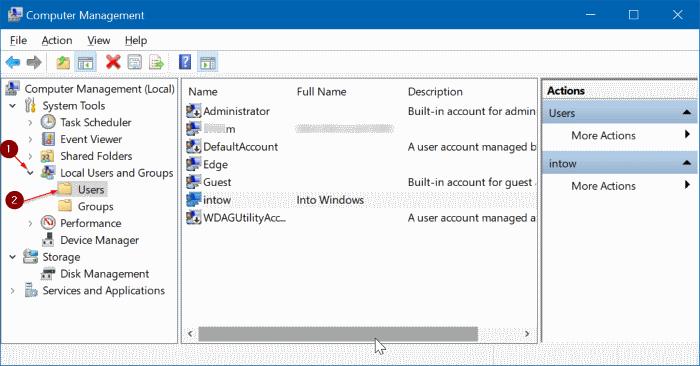 activar o desactivar la cuenta de usuario en Windows 10 pic2