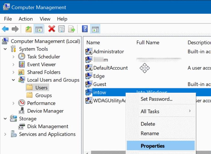 activar o desactivar la cuenta de usuario en Windows 10 pic3