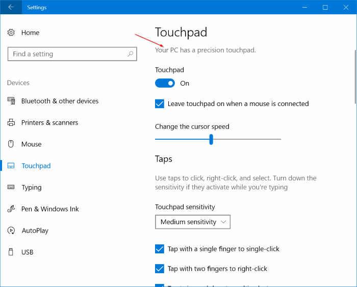 enable precision touchpad on any Windows 10 laptop pic16