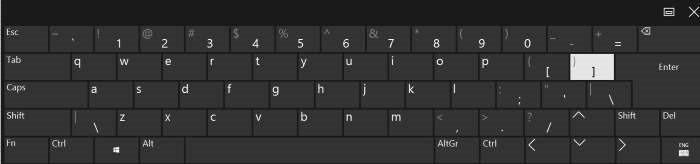 habilitar la disposición estándar del teclado completo en el teclado táctil en Windows 10 pic2