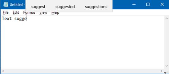 habilitar sugerencias de texto para el teclado de hardware en Windows 10 pic1