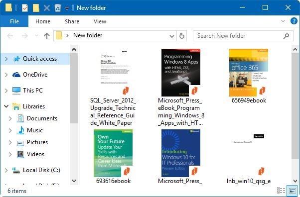 activar vista previa en miniatura para archivos PDF en Windows 10 File Explorer pic4