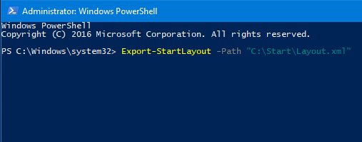 exportar e importar diseño del menú Inicio en Windows 10 pic2