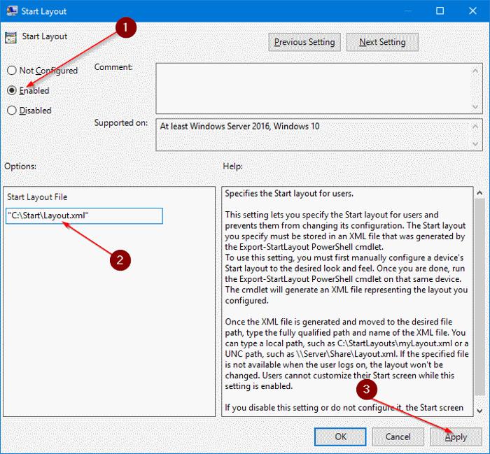 exportar e importar diseño del menú Inicio en Windows 10 pic6