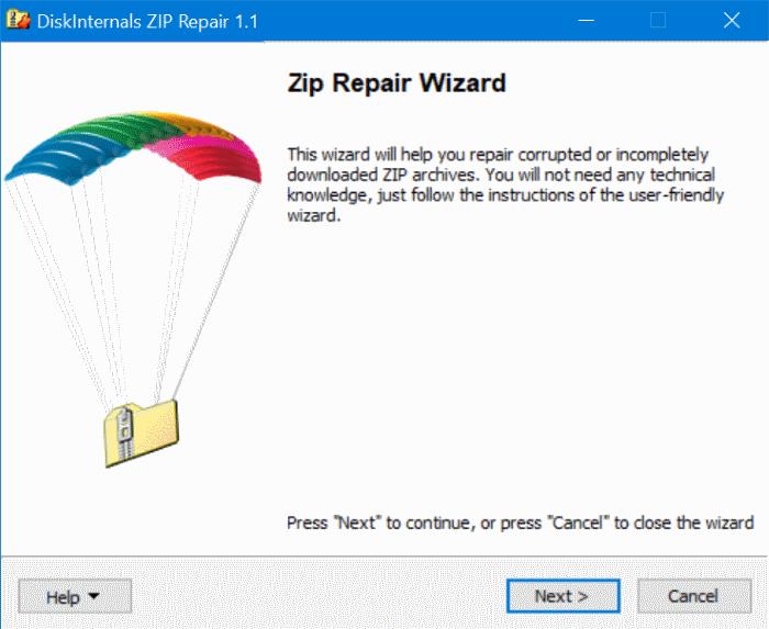 extraer archivos de un archivo zip dañado en Windows 10 pic1