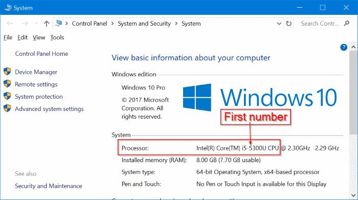 averigua qué generación tiene tu procesador de información en Windows 10 pic2