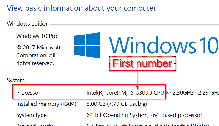 averigua qué generación tiene tu procesador de información en Windows 10 pic3