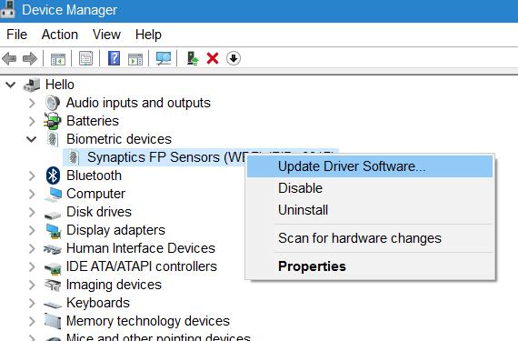 botón de configuración de huellas digitales gris en Windows 10 pic1