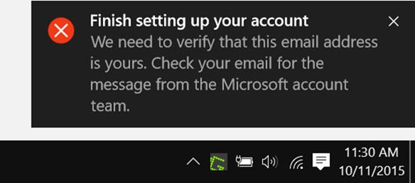 terminar de configurar la notificación de su cuenta pic1