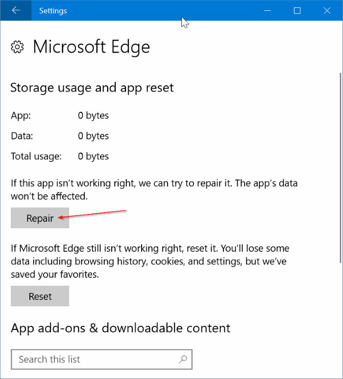 fix Edge browser is slow in Windows 10 pic2