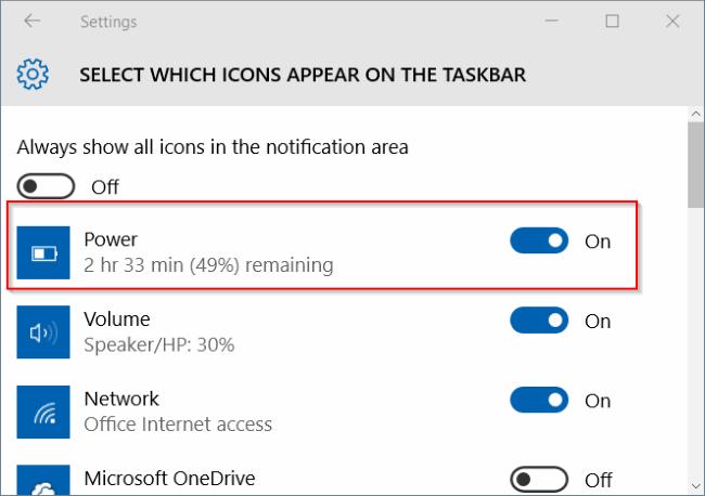 falta el icono de batería en windows 10 taskbar step4