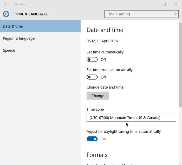 corregir fecha y hora incorrectas en Windows 10 step2