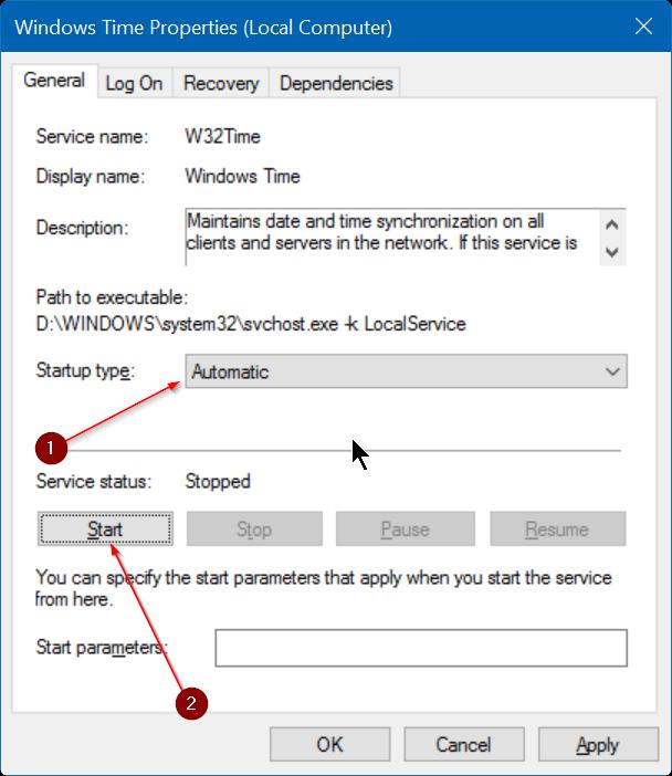 corregir fecha y hora incorrectas en Windows 10 step7