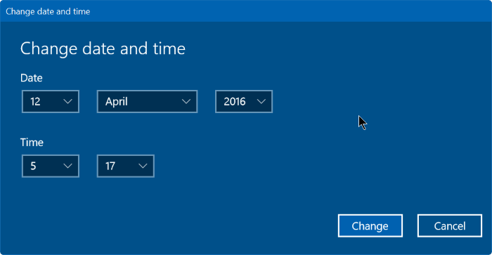corregir fecha y hora incorrectas en Windows 10 step9