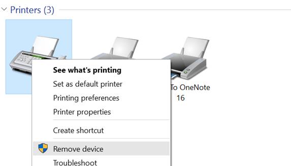 solucionar problemas de impresión en Windows 10
