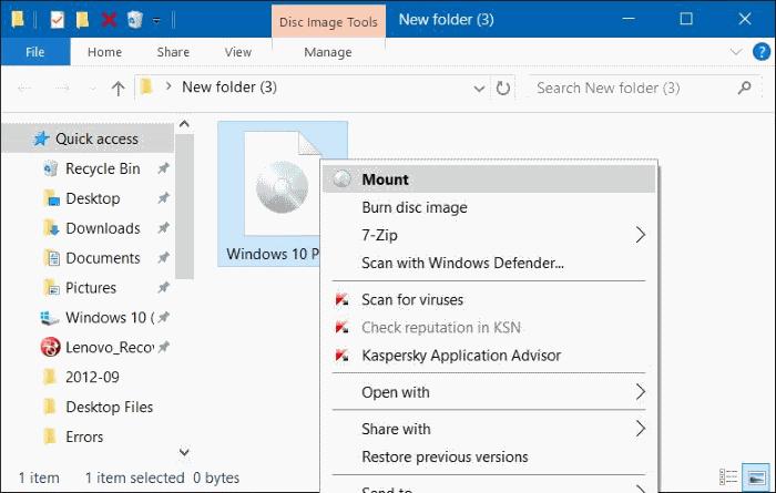 corregir para montar la opción que falta del menú contextual en Windows 10
